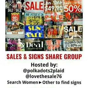 Other - SIGN IN FOR THUR 4/25 SIGNS & SALES SHARE GROUP